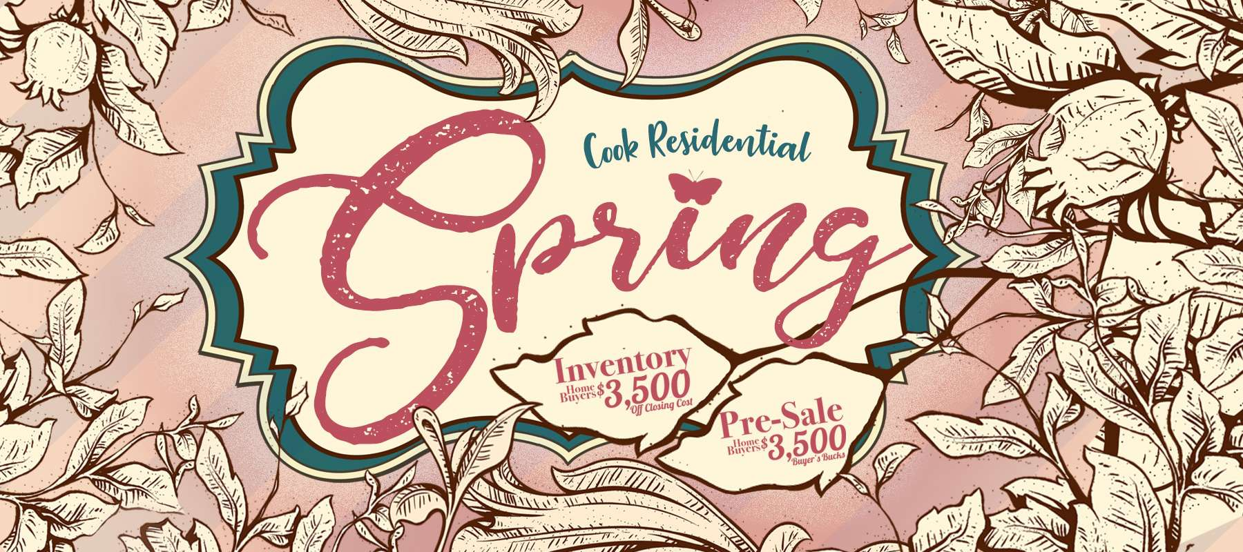 Cook Residential Spring 2018 Incentive $3500 off new homes